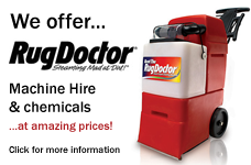 We offer Rug Doctor machine hire!