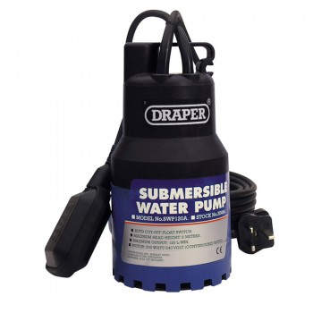 120L/Min 230V Submersible Water Pump with 6M Lift and Float Switch (200W)