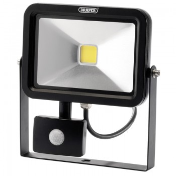 1300 Lumen COB LED Slimline Wall Mounted Flood Lights with PIR Sensor (20W)