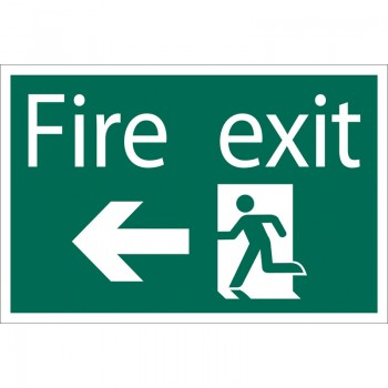 'Fire Exit Arrow Left' Safety Sign