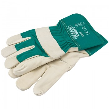 Premium Leather Gardening Gloves - L
