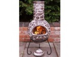 Mexican Cantera Chimenea and Stand - 110cm