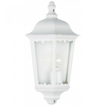 3 Side Half Wall Lantern - White IP43
