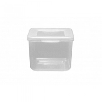 Food Container Square Hinged Lid - 300ml Clear