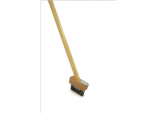 Patio Weed Brush With Wooden Handle - 4