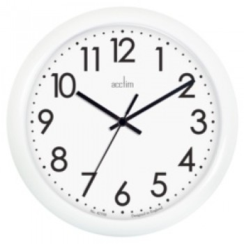 Abingdon Wall Clock - White 25.5cm