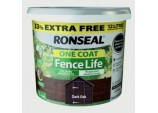 One Coat Fence Life 9L + 33% Free - Dark Oak