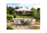 Rhodes 6 Seat Set - With Parasol