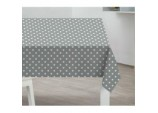 PVC Tablecloth - Grey Polka Dot