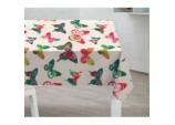 PVC Tablecloth - Bright Butterflies