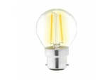 Clear LED 4w Filament Round 2700k - 470lm BC