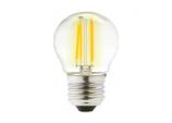 Clear LED 4w Filament Round 2700k - 470lm ES
