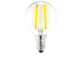 Clear LED 4w Filament Round 2700k - 470lm SES