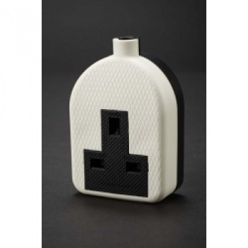 13A Rubber Trailing Socket - White to BS1363/A Pack 10