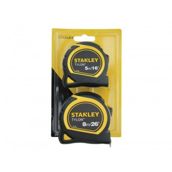 Stanley Tylon Tape Twin Pack 5m/16ft and 8m/26ft