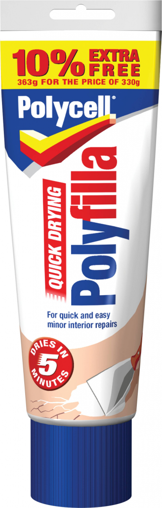 Multi Purpose Quick Drying Polyfilla 330g Plus 10% Tube – Now Only £3.00