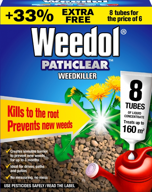 Pathclear Weedkiller 6 Tubes Plus 2 Free – Now Only £10.00