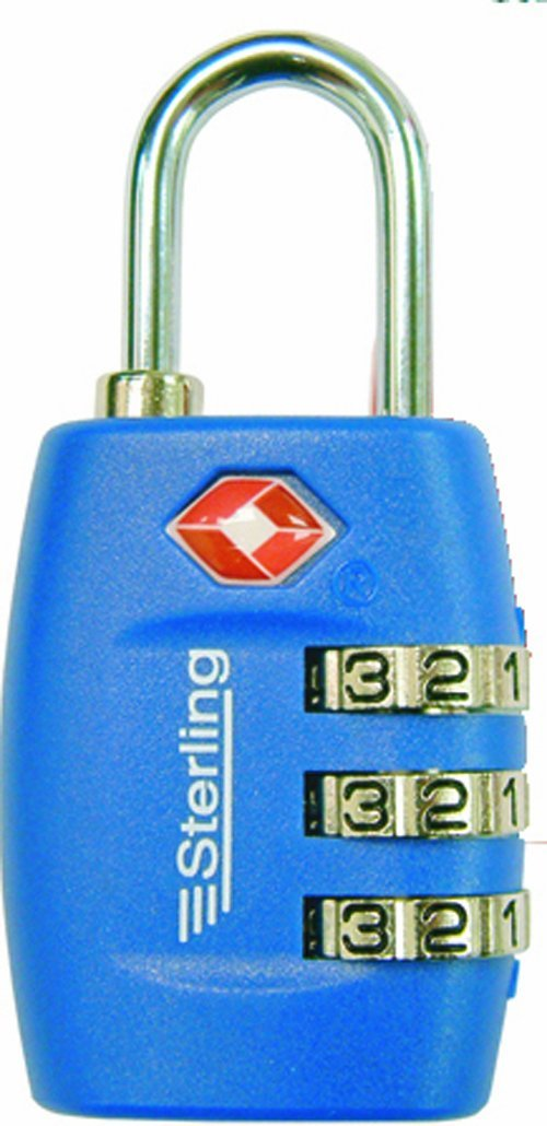 26MM Combination padlock TSA approved - Assorted colours – Now Only £6.00