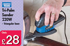 Storm Force Tri-Palm Sander 220W – Now Only £28.00