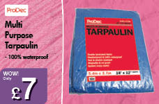 Multi Purpose Tarpaulin  – Now Only £7.00