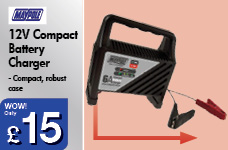 12V Compact Battery Charger – Now Only £15.00