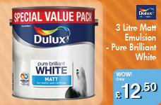 3 Litre Matt Emulsion - Pure Brilliant White – Now Only £12.50