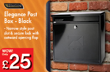 Elegance Post Box - Black – Now Only £25.00