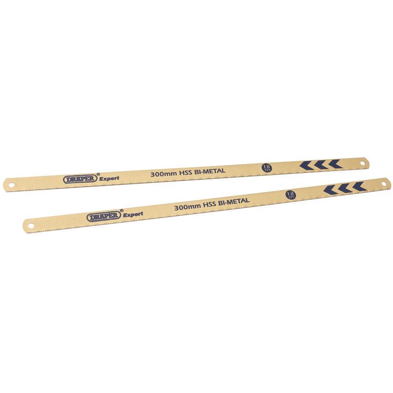 Expert 2 x 300mm 24tpi Bi-Metal Hacksaw Blades – Now Only £3.07