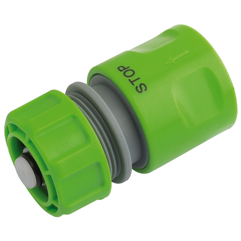 1/2� BSP Hose Connector with Water Stop Feature – Now Only £2.49