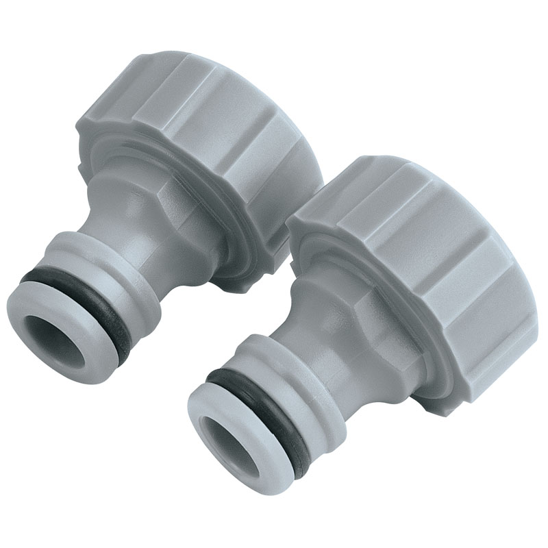 """Twin Pack of Outdoor Tap Connectors (3/4"""") – Now Only £1.21"""