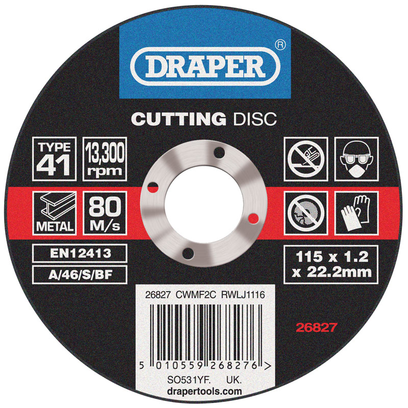 Flat Metal Cutting Discs (115 x 1.2 x 22.2mm) – Now Only £0.76