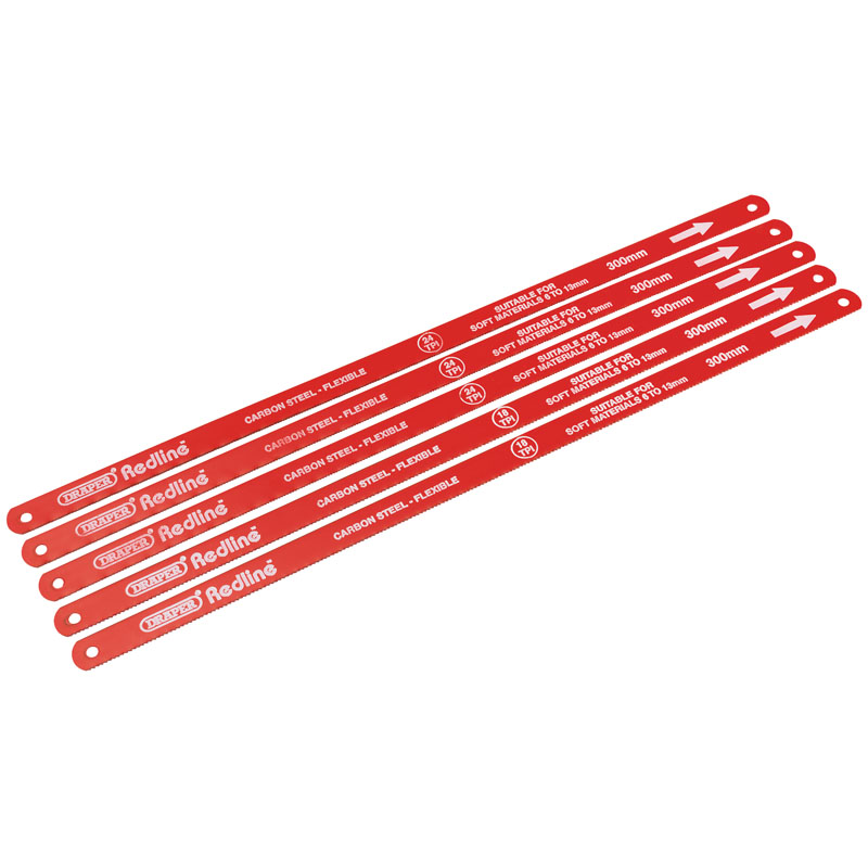 300mm Hacksaw Blades - Card of 5 – Now Only £1.68