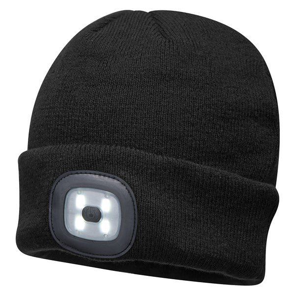Beanie LED Head Light Hat - BLACK – Now Only £10.00