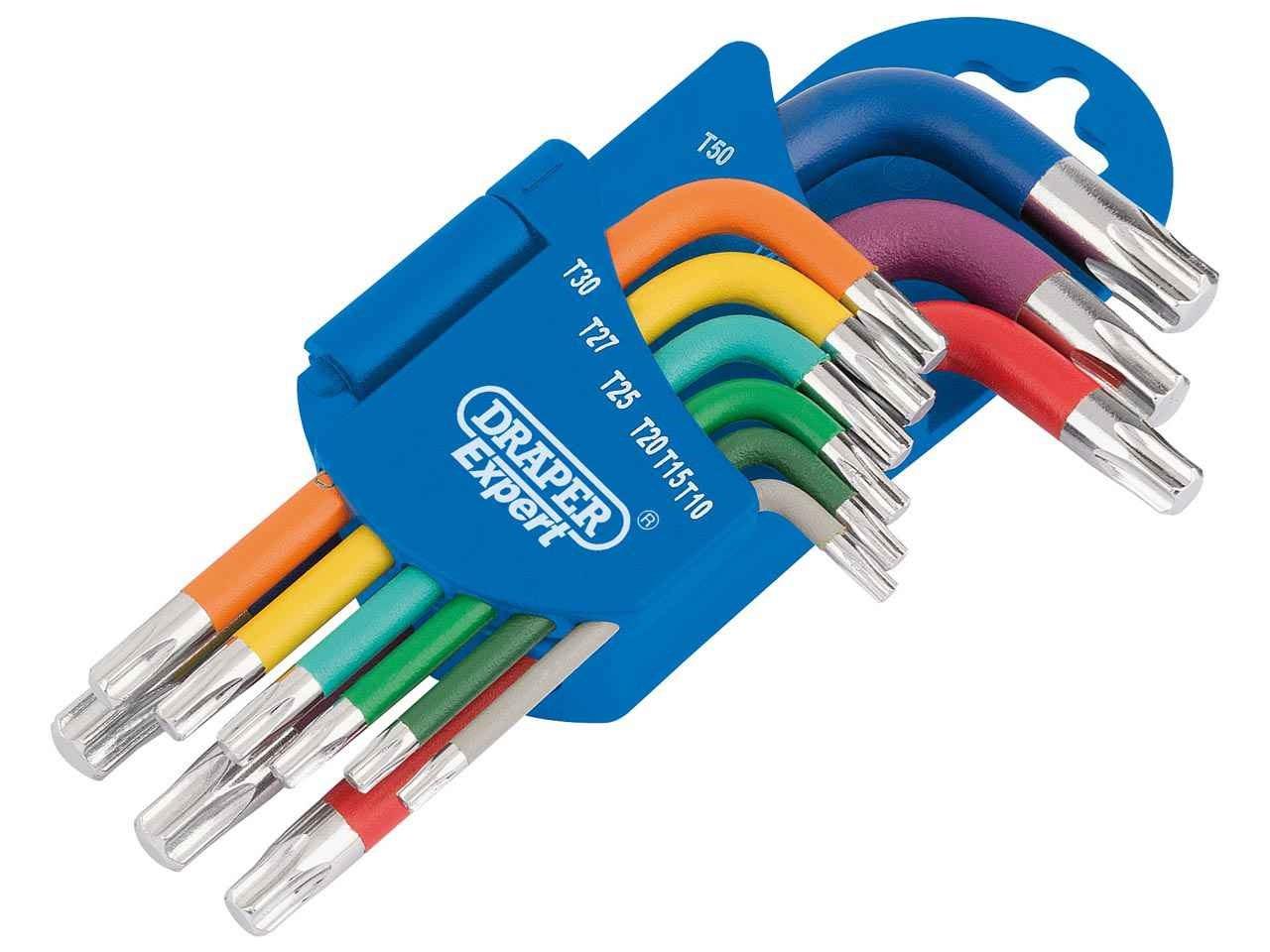 Metric Coloured Short Arm Draper TX-STAR Key Set (9 Piece) – Now Only £11.00