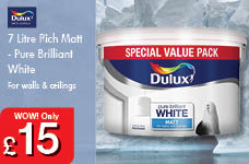 7 Litre Rich Matt Pure Brilliant White – Now Only £15.00