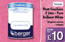 3 Litre Matt Emulsion - Pure Brilliant White – Now Only £10.00