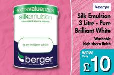 3 Litre Silk Emulsion - Pure Brilliant White – Now Only £10.00